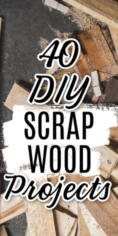 Gather up your scrap wood and make some amazing projects right in your own home! These ideas are inexpensive because you use scraps of wood you have left from other projects! #scraps #crafting #crafts #wood #woodcrafts #woodprojects