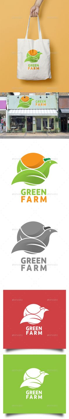 Green Farm Logo  — JPG Image #healthy #farm • Download ➝ https://graphicriver.net/item/green-farm-logo/18066200?ref=pxcr
