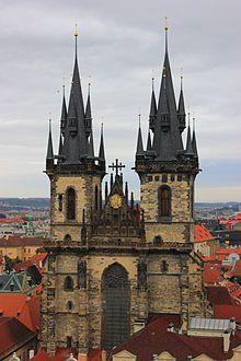 Praga - Iglesia de Nuestra Señora del Týn.