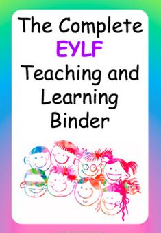 This beautifully designed, upgraded, FULLY EDITABLE EYLF Teaching and Learning Binder contains everything you will need to document the teaching and learning experiences in your early education setting. The binder includes the following valuable 'go-to' resources: