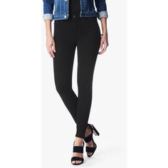 7 For All Mankind B(Air) Denim Ankle Skinny In Black ($169) ❤ liked on Polyvore featuring jeans, black, denim, pants, denim jeans, slim-fit denim jeans, 7 for all mankind, slim cut jeans and slim fit jeans