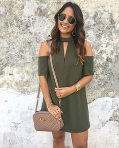 """2,583 Likes, 68 Comments - Jennifer Palpallatoc (@hauteofftherack) on Instagram: """"SALE Alert!! Remember this pretty, little, olive cold shoulder dress you all loved? Well, not only…"""""""