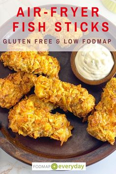 These fish sticks are coated with crushed potato chips! It doesn't get crunchier or more delectable than that. Perfect with our Low FODMAP Tartar Sauce. All in less than 30 minutes! #dairyfree #glutenfree #freezerfood #lowfodmapdiet#fodmap #lowfodmap #fodmapeveryday #ibs #ibsdiet #cleaneating #fodmapsafe Best Gluten Free Recipes, Great Recipes, Food Map Diet, Fish Sticks, Tartar Sauce, Fodmap Recipes, Low Fodmap, Potato Chips, Ibs