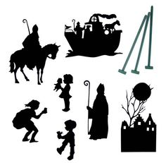 schaduwspel sinterklaas - Google zoeken Christmas Stencils, Christmas Projects, Kirigami, Saints For Kids, Saint Nicolas, Silhouette Cameo Projects, Silhouette Vector, Holidays And Events, Concept Cars