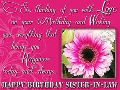 Birthday Cards Quotes For Sister ~ Happy birthday sister in law quote g birthday