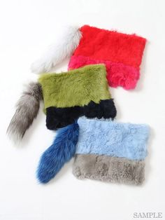 Nine ナイン MIXファークラッチ / pop color faux fur clutch on ShopStyle