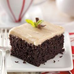 Mom always made this special chocolate mayo cake for my birthday meal. It's very moist and has a nice, light chocolate taste, and the flavorful frosting is the perfect topping. — Deborah Amrine, Grand Haven, Michigan