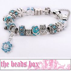 AA-37 Charm Bracelet 925 Sterling Silver Murano by TheBeadsBox