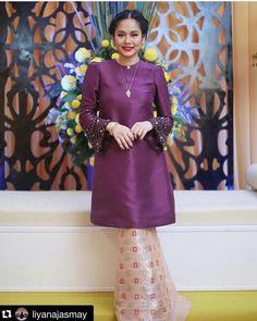New Baju Kurung : Kurung Riau modern Kebaya Lace, Batik Kebaya, Kebaya Dress, Batik Dress, Kimono, Hijab Dress, Muslim Fashion, Hijab Fashion, Fashion Dresses