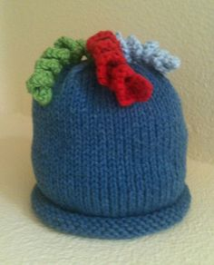 Such Fun Hand Knit Baby Hat Topped With by HollyLaneBabyHats, $28.00