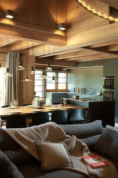 Log House And Transitional FurnitureWarm up Your Home With These Home Interior Designs Involving Wood  . House And Interiors. Home Design Ideas