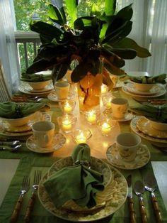 Green tea party!