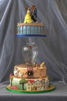 best cake i've ever seen. I absolutely love cake decorating and Beauty and the Beast! I am in LOVe with this cake! Pretty Cakes, Cute Cakes, Beautiful Cakes, Amazing Cakes, Beautiful Gorgeous, Wedding Beauty, Fancy Cakes, Crazy Cakes, Cake Art