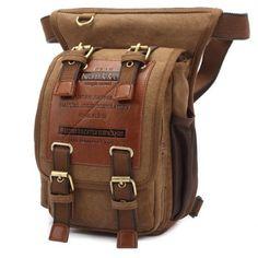 KAUKKO FH07 5L Men Canvas Waist Leg Bag-20.57 Online Shopping| GearBest.com