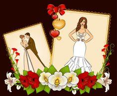 Wedding postcard vector riscos noivinhos pinterest wedding wedding postcard vector stopboris Choice Image