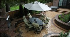Entertaining, Patio, Clay Paver, Small  Patio  Arcadia Design Group  Centennial, CO