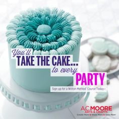 Take the new Wilton Method Course 1 and decorate cakes you're proud to share. Find a class at A.C. Moore Arts & Crafts near you today!