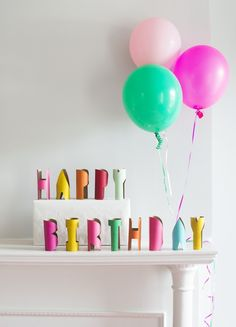 Tube Letters: An Easy Birthday Garland Alternative! — super make it