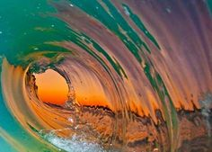 Beautiful ocean wave photography from Clark Little