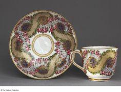 Cup and Saucer Gobelet 'Bouillard' et soucoupe of the first size Manufacture de Sèvres Jacques-François Micaud (1732 - 1811), Painter Sèvres, France 1767 Soft-paste porcelain, painted and gilded Cup, Height: 6.3 cm Saucer, Diameter: 13.5 cm