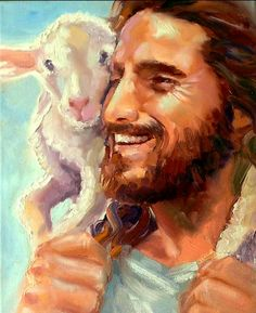 Our good Shepherd leaves the 99 to return the 1 lost sheep. All of heaven rejoices when someone accepts Jesus as their savior! Lord Is My Shepherd, The Good Shepherd, Image Jesus, Jesus Painting, Paintings Of Christ, Pictures Of Christ, Prophetic Art, Biblical Art, Jesus Is Lord
