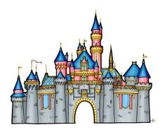 Free for personal use Castle Drawing Images of your choice Art Deco Tattoo, Dark Art Tattoo, Disney Canvas Art, Disney Art, Disneyland Castle, Disneyland Paris, Disney Castle Drawing, Castle Clipart, Castle Mural