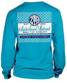 Zeta Tau Alpha Long Sleeve Sisterhood T-shirt