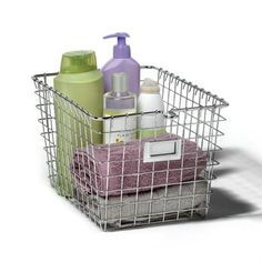 This is the perfect storage solution for any room and even includes a label plate to mark what's stored in the basket!