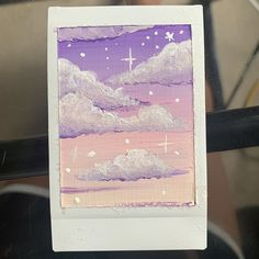 Christines Art sur : Painting on bad polaroids is great, almost makes me wish I messed up more shots lol ((more art to come, I am currently working on a bigger Cute Canvas Paintings, Small Canvas Art, Mini Canvas Art, Small Paintings, Aesthetic Painting, Aesthetic Art, Painting Inspiration, Art Inspo, Acrylic Art