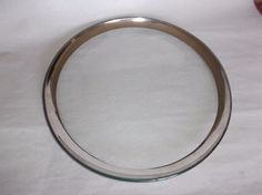 """Annieglass Roman Antique Platinum 12"""" Buffet Plate, signed, 1999, VGUC, #7 #Modern"""