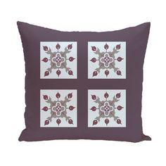 E by Design Turkish Squares Decorative Pillow - PGN151BL14BL23-16