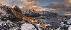 Reine, Lofoten, Norway. - Panorámica de Reine, Islas Lofoten, Noruega.