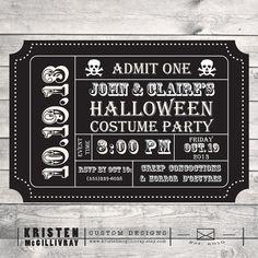 Halloween Party Invitation DIY Digital File by KristenMcGillivray, $15.00