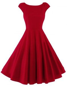 GET $50 NOW   Join RoseGal: Get YOUR $50 NOW!http://www.rosegal.com/vintage-dresses/fitting-cap-sleeve-fit-and-845557.html?seid=7163143rg845557