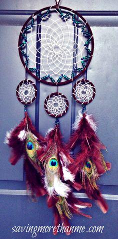 DIY Peacock Dreamcatcher: for my Keke, don't tell her.