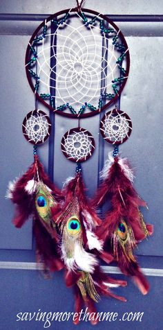 DIY Peacock Dreamcatcher: