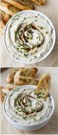 HOMEMADE FRENCH ONION DIP! Made with greek yogurt... it's to die for. I howsweeteats.com