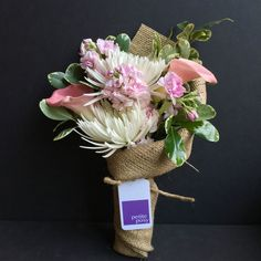 Cala Lily, Fragrant Stock, Spider Chrysanthemums and Variegated Pittosporum. Only $25 delivered same-day anywhere in Manhattan*. #flowers #florist #Manhattan #newyork #calalily #stock #fragrant #spidermum #chrysanthemums #pittosporum