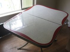 1950s Red and White Formica and Chrome by FlirtySanchezProject, $400.00