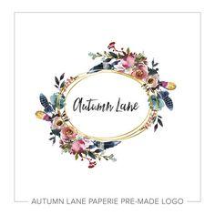 Premade Logo Design Floral Logo Photography Logo