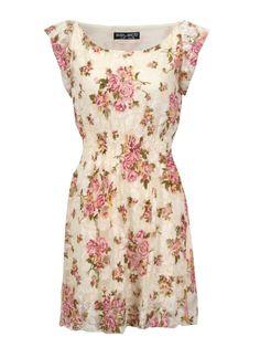Lace Floral Tea Dress