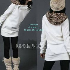 Leopard Print Fitted Hoodie  from Magnolia Lane Boutique  $22