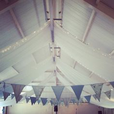 Beautiful bunting provided by Bobunting.co.uk for our village hall commission