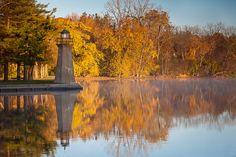 Fabyan Lighthouse in Fall by myn91, via Flickr