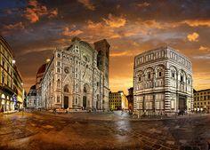 Battistero di San Giovanni and duomo di Santa Maria del Fiore, Firenze,Tuscany, Italy by Batistini Gaston, via Flickr