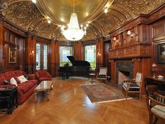 Burrage house Boston Victorian manor mansion interior pictures wood wainscot paneled walls, via Flickr. Victorian Manor, Victorian Interiors, Victorian Design, House Interiors, Gothic Interior, Mansion Interior, Room Interior, Beautiful Interiors, Beautiful Homes