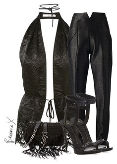 """""""Untitled #3101"""" by breannamules ❤ liked on Polyvore featuring Givenchy, Paper London, Yves Saint Laurent and Giuseppe Zanotti"""