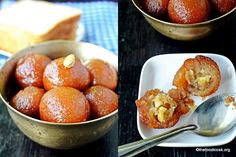 Atuthentic Indian sweet Gulab Jamun with a twist known as bread gulab jamun.