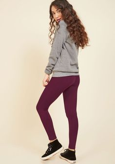 b013828e3eda Heed Your Warming Fleece-Lined Leggings in Textured Berry. Dont sacrifice  style for comfort