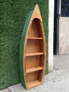 Green Wooden Canoe Shelf       125.